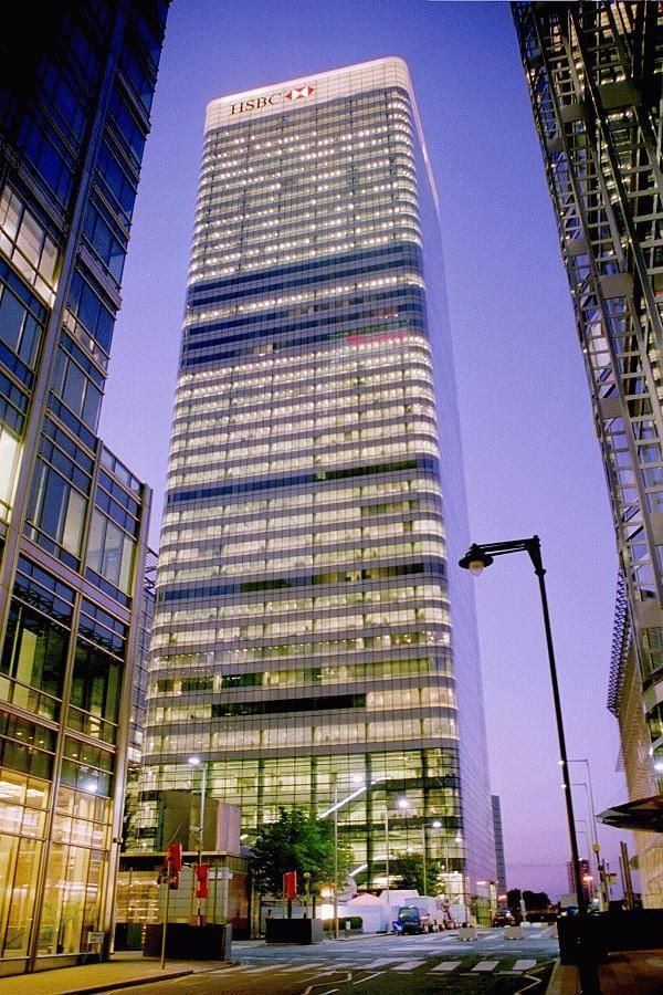 8 Canada Square   5th Talles In London. Height 655 Ft, 42 Floors,
