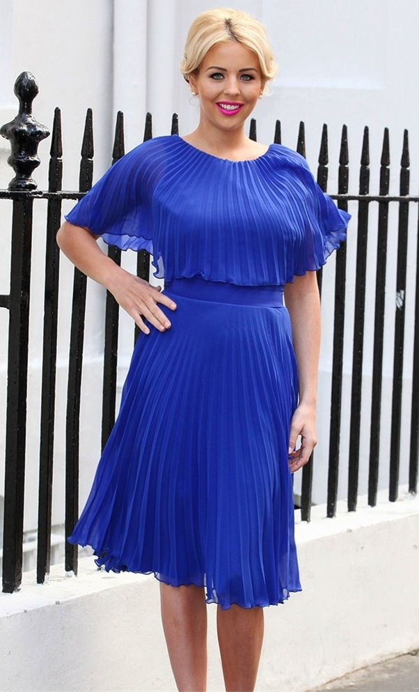 SPOTTED! Lydia Rose Bright in her fabulous Kate Blue Pleated Midi ...