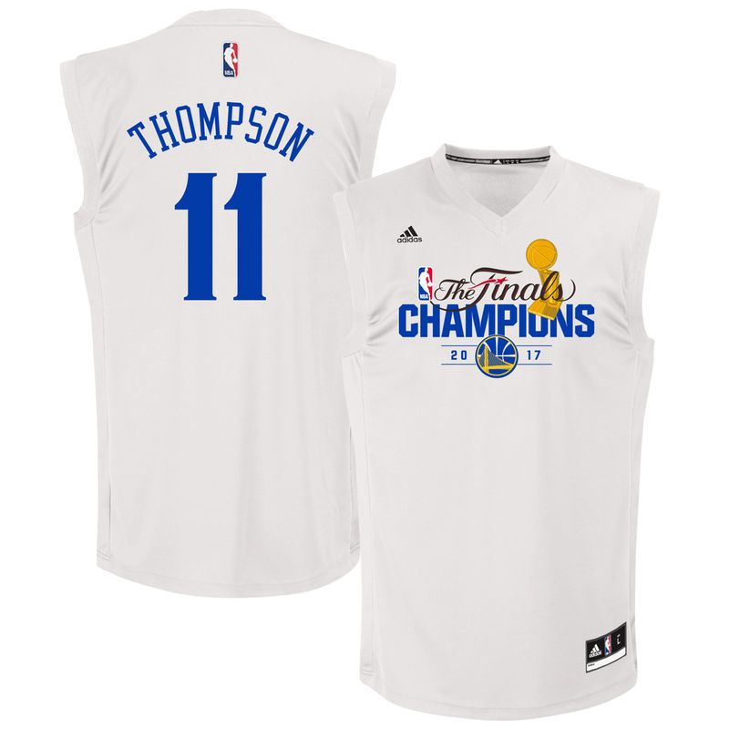 low priced aa7e9 deb88 Klay Thompson Golden State Warriors adidas 2017 NBA Finals ...