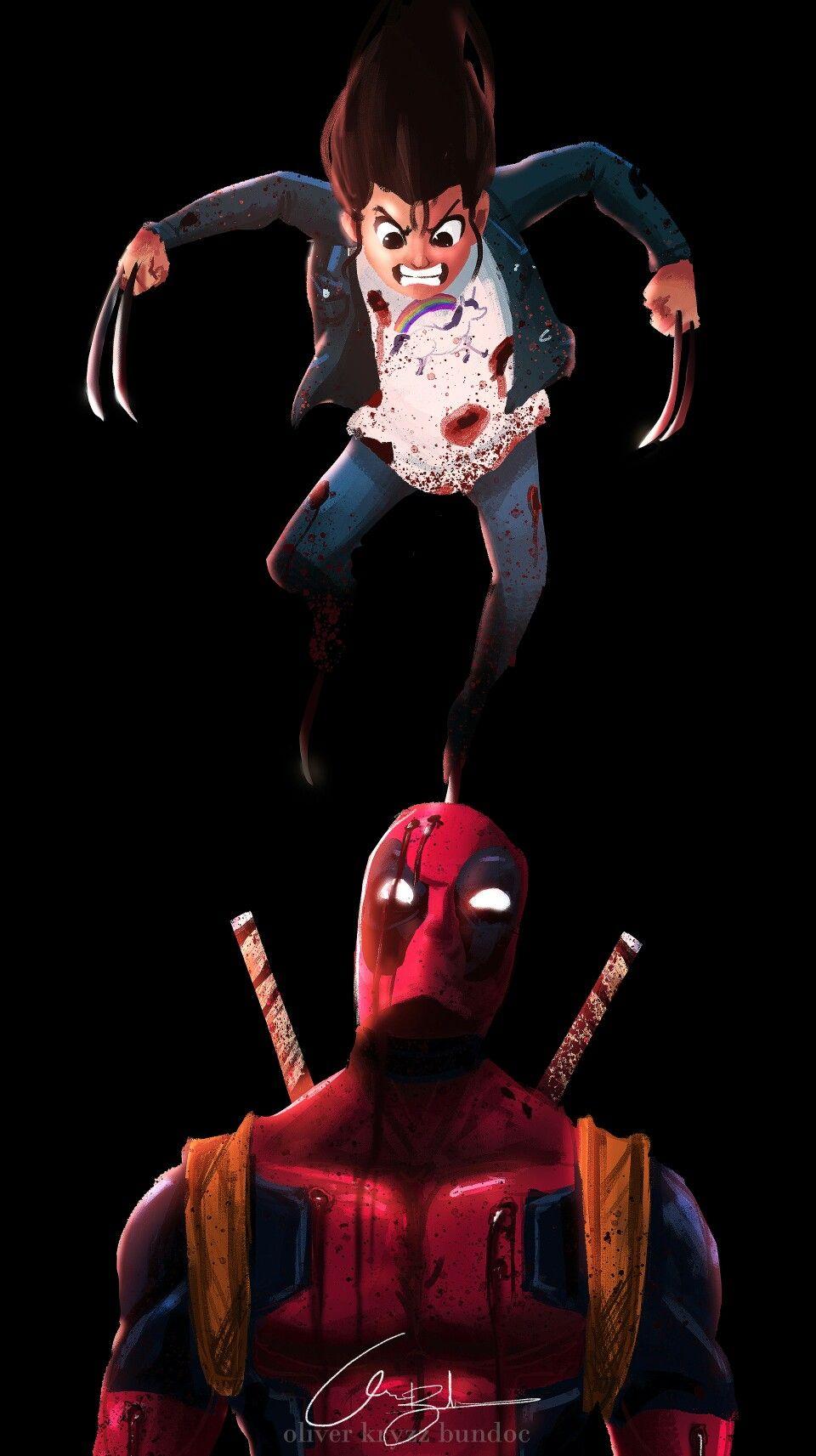 Artist Oliver Kryzz Bundoc Deadpool, Iphone wallpaper