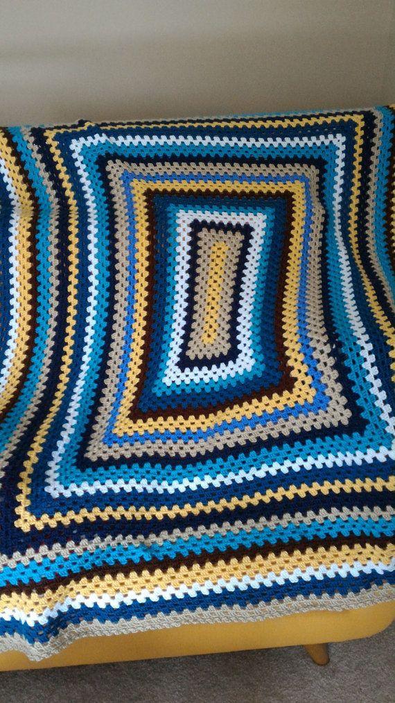 Multicolor Granny Rectangle Afghan | Pinterest | Abuelas, Cuadrados ...