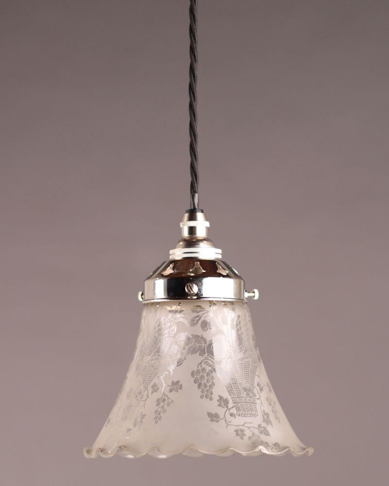 Edwardian Bathroom Ceiling Lights pretty edwardian glass shade pendant light | harveys bathroom