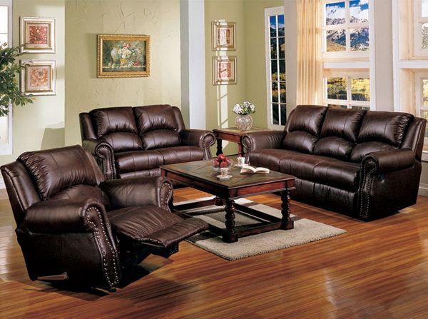 Elegant Room · Black Leather Sofa Sets For Living Room With ...