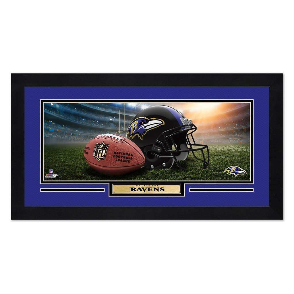 Baltimore Ravens Print 13x7 Framed Helmet in Stadium Design Special ...