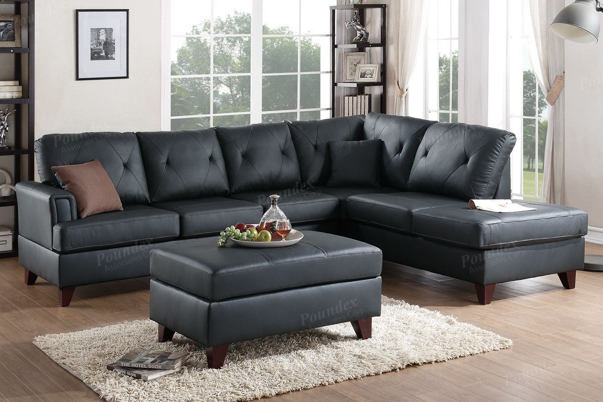 Admirable Poundex 2 Pcs Sectional Sofa F6880 Products 2 Piece Inzonedesignstudio Interior Chair Design Inzonedesignstudiocom