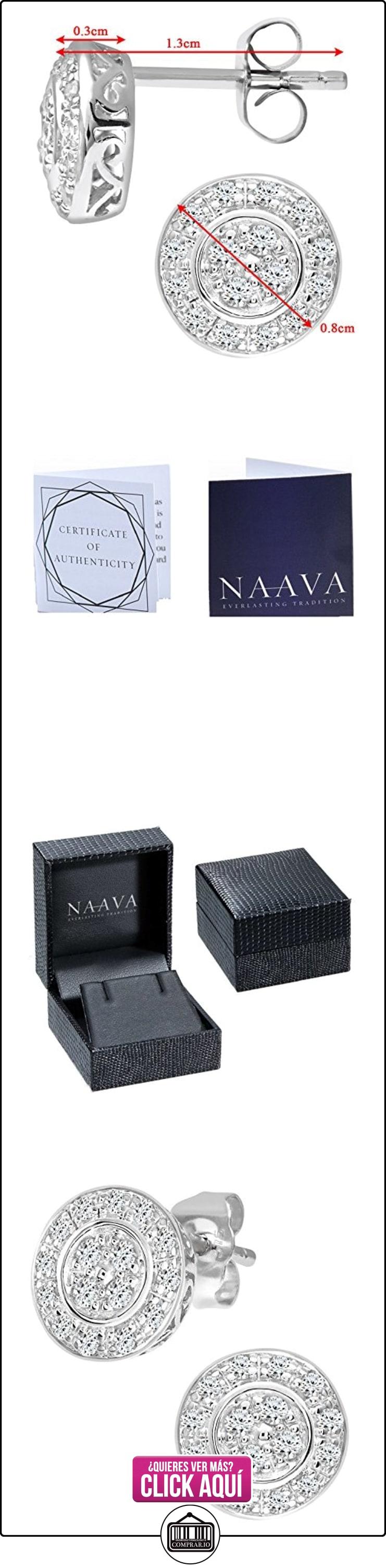 Naava - Pendientes de mujer de oro blanco (9k) con 32 diamantes  ✿ Joyas para mujer - Las mejores ofertas ✿ ▬► Ver oferta: https://comprar.io/goto/B000VO6XNI