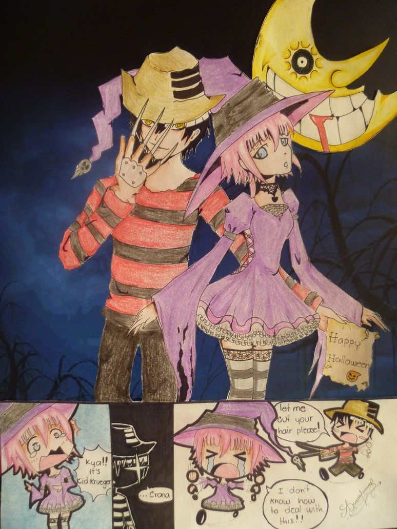 Kidxcrona halloween entry by evangeline 17 on deviantart - This is halloween soul eater ...