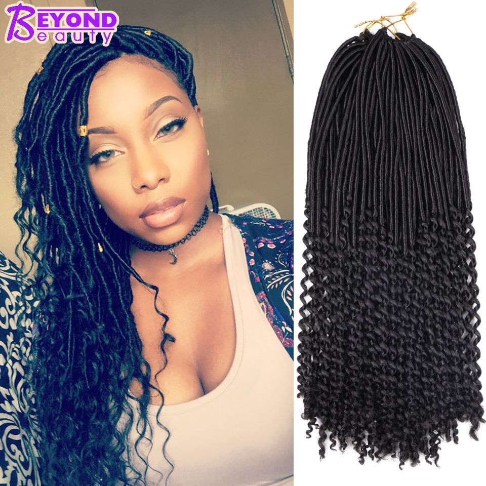 Crochet Goddess Locs Ombre Curly Crochet Braids Faux Locs Hair Braid Freetress Havana Mambo Faux Locs Crochet H Hair Styles Curly Hair Styles Black Girl Braids
