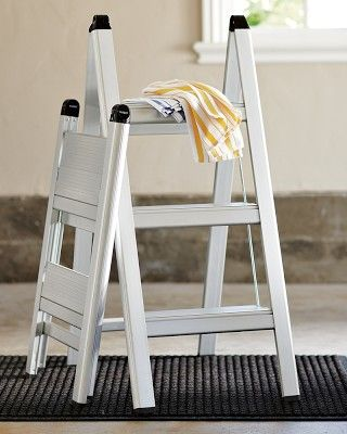 Brilliant Ultraslim Aluminum Step Stool 2 Step Linen Closet Customarchery Wood Chair Design Ideas Customarcherynet