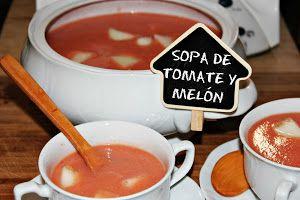 SOPA DE TOMATE Y MELÓN CON THERMOMIX