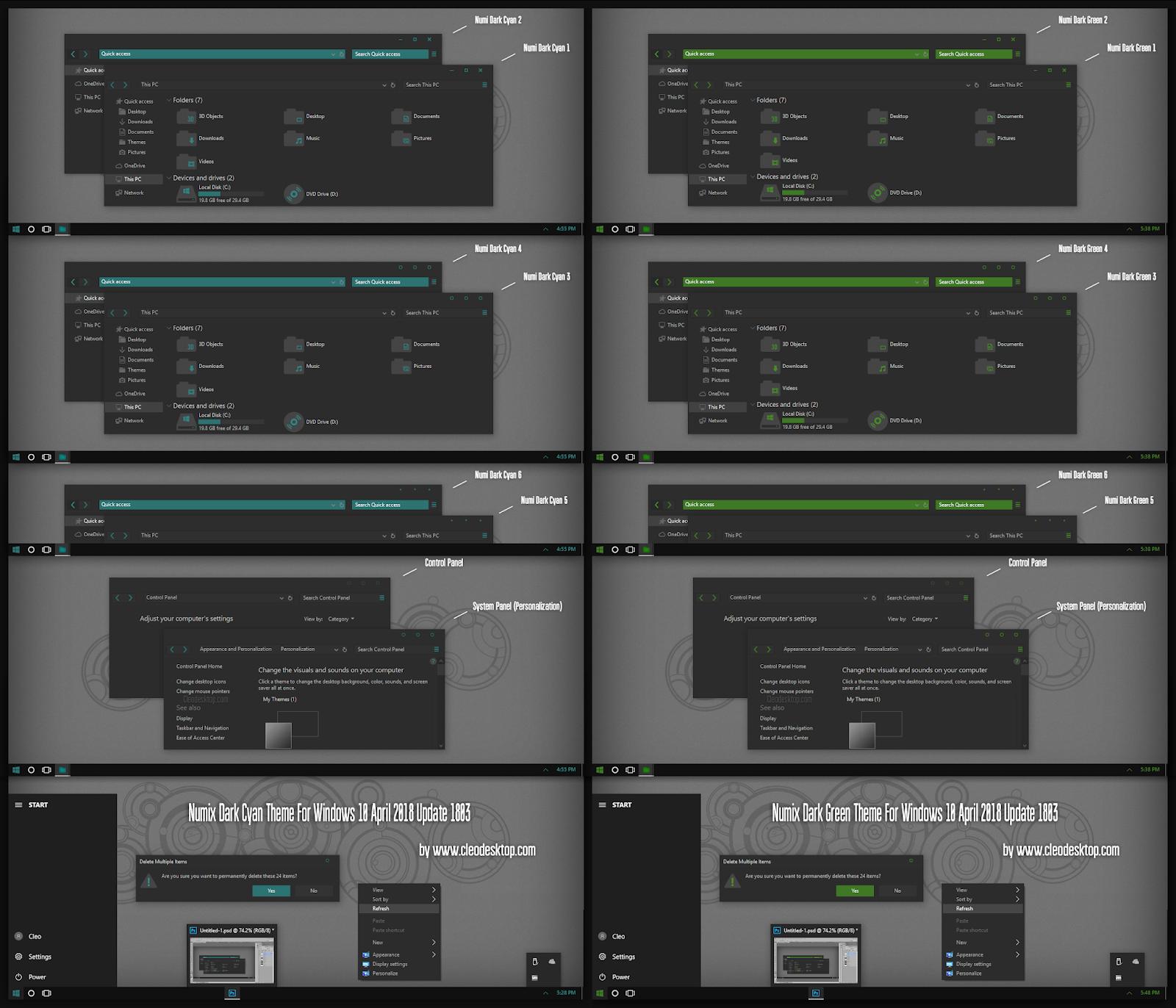 Windows10 Themes I Cleodesktop Numix Dark Cyan And Green Theme Windows10 April 2018 Update 1803 Dark Cyan Green Theme Theme