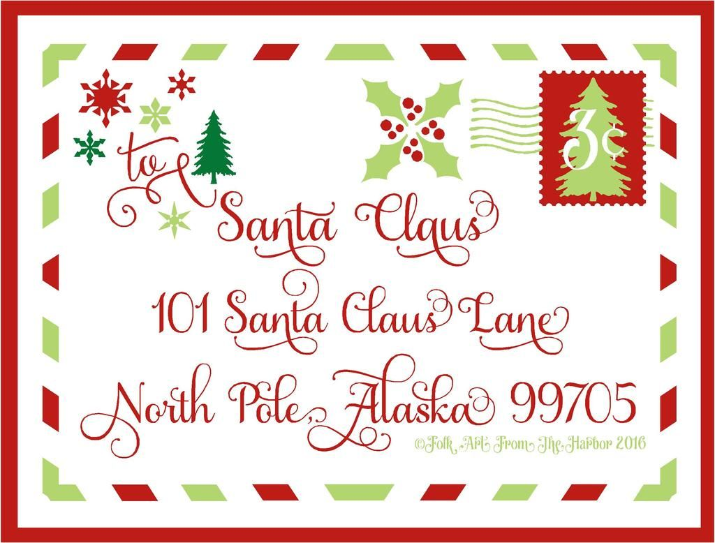 Photo Santa Address 12x16 Zpsmbryeksu Jpg Christmas Mail Christmas Art Santa Letter
