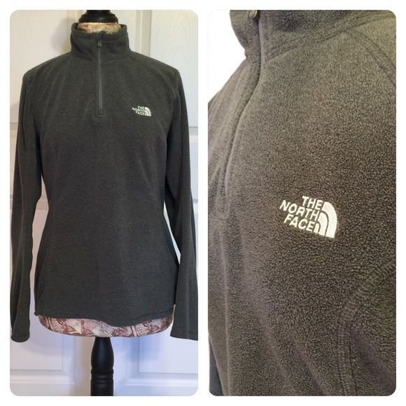Gray North Face Fleece Good condition gray North Face fleece. North Face Tops