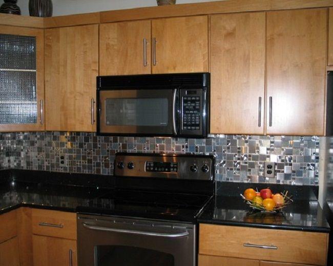 Black Kitchen Backsplash Amazing Ideas Stainless Steel Kitchen ...
