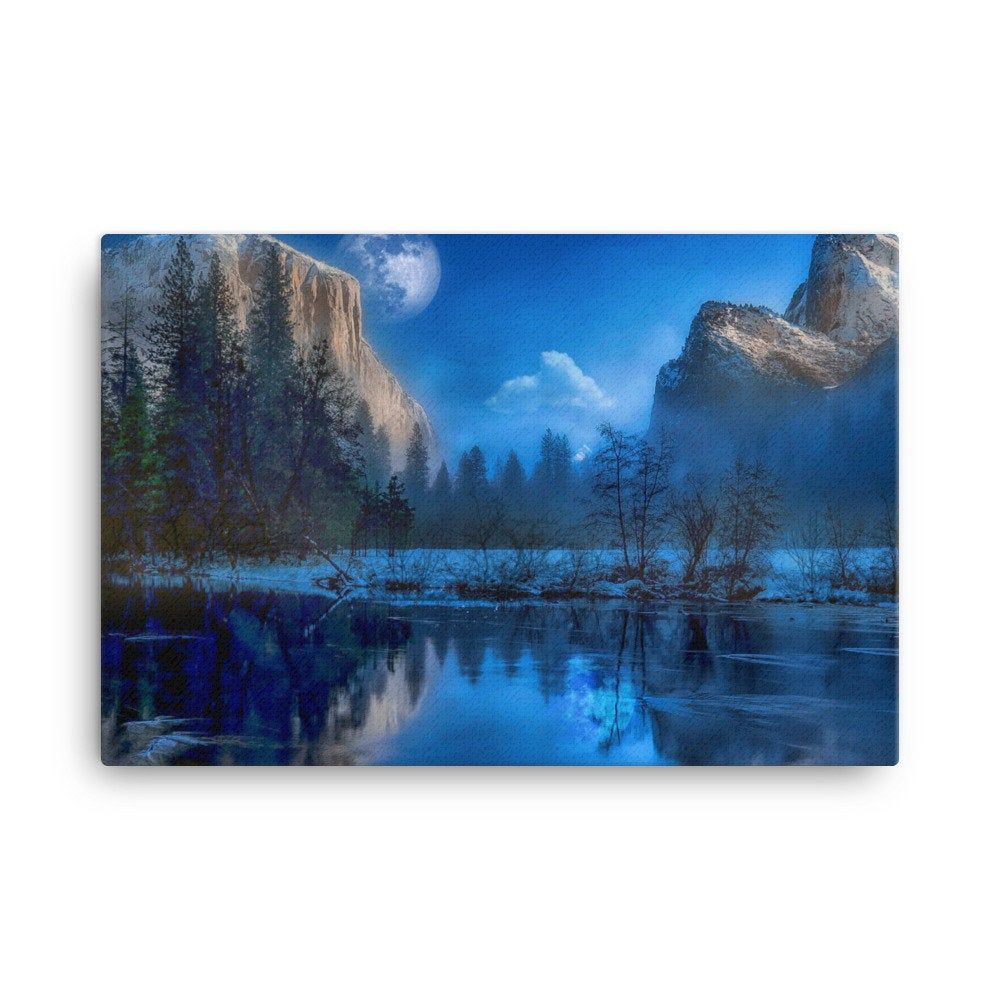 Yosemite Wall Art Yosemite Canvas Art National Park Etsy In 2020 Mountain Wall Art Art Wall Art