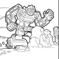 Transformers Rescue Bots Coloring Pages Henrys Rescue Bot Party