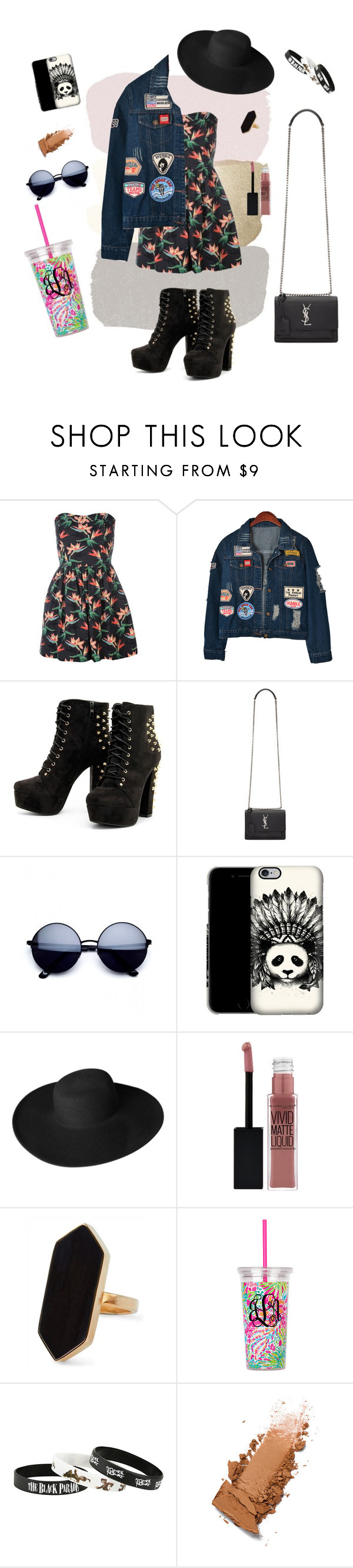 """""""Untitled #9"""" by lismansage ❤ liked on Polyvore featuring Chicnova Fashion, Yves Saint Laurent, Dorfman Pacific, Maybelline and Jaeger"""