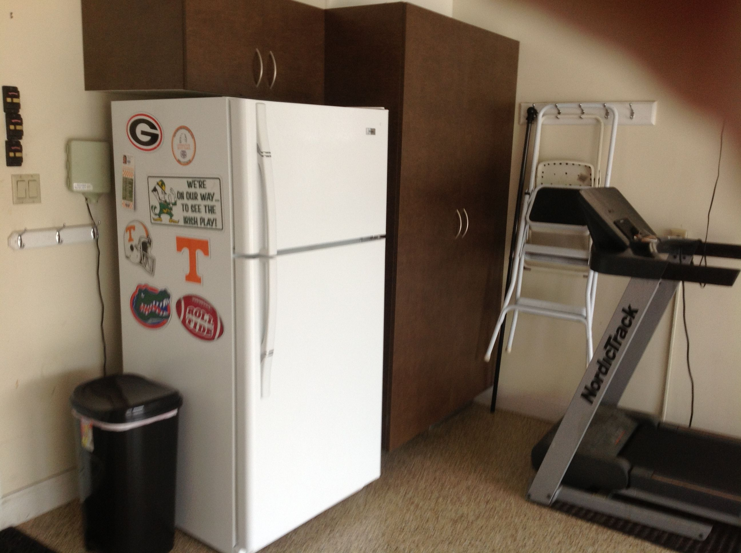 Install Cabinets Around Your Mechanical Equipment And Nobody Will Know It Is There Garage Cabinets Organization Help Garage Clutter
