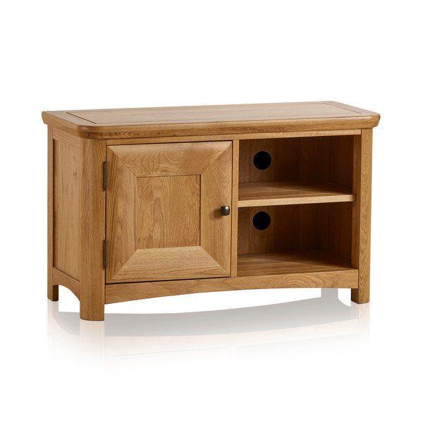 Natural Solid Oak TV Cabinets - Small TV Unit - Wiltshire Range - Oak Furnitureland