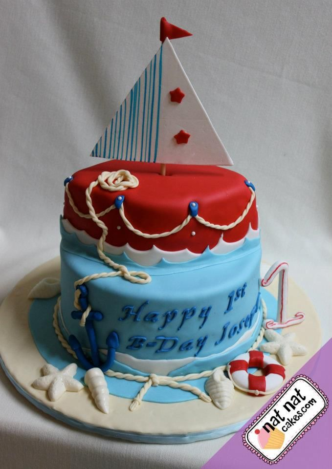 Boatnautical Birthday Cake Hunters 2nd Birthday Pinterest