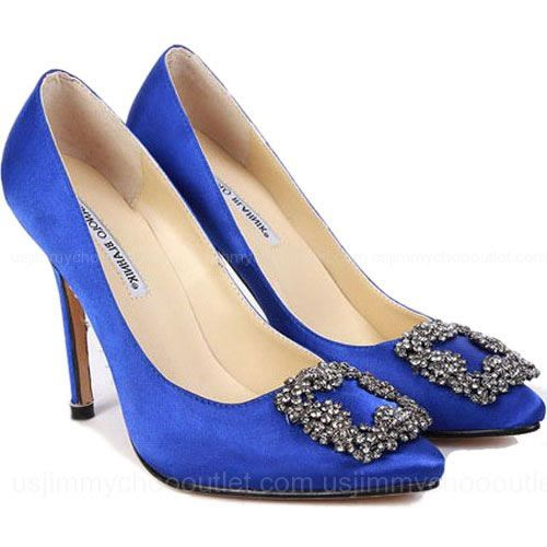 1b964b050a1 Manolo Blahnik Something Blue Satin Pump Need these! Carrie s wedding shoes