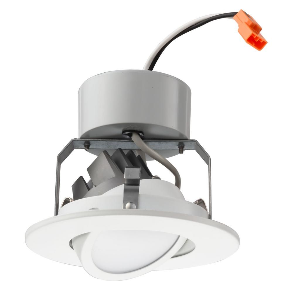 Lithonia Lighting 4 In Matte White Recessed Gimbal Led Module 2700k