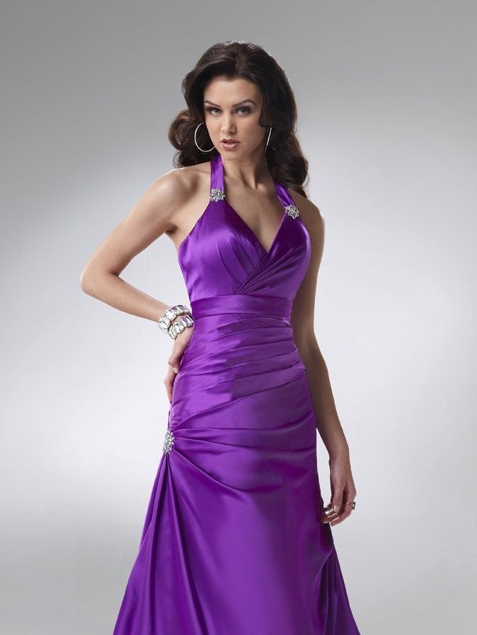 Sheath Gakter Floor-length Satin Prom Dress PD0037 | Prom dresses ...