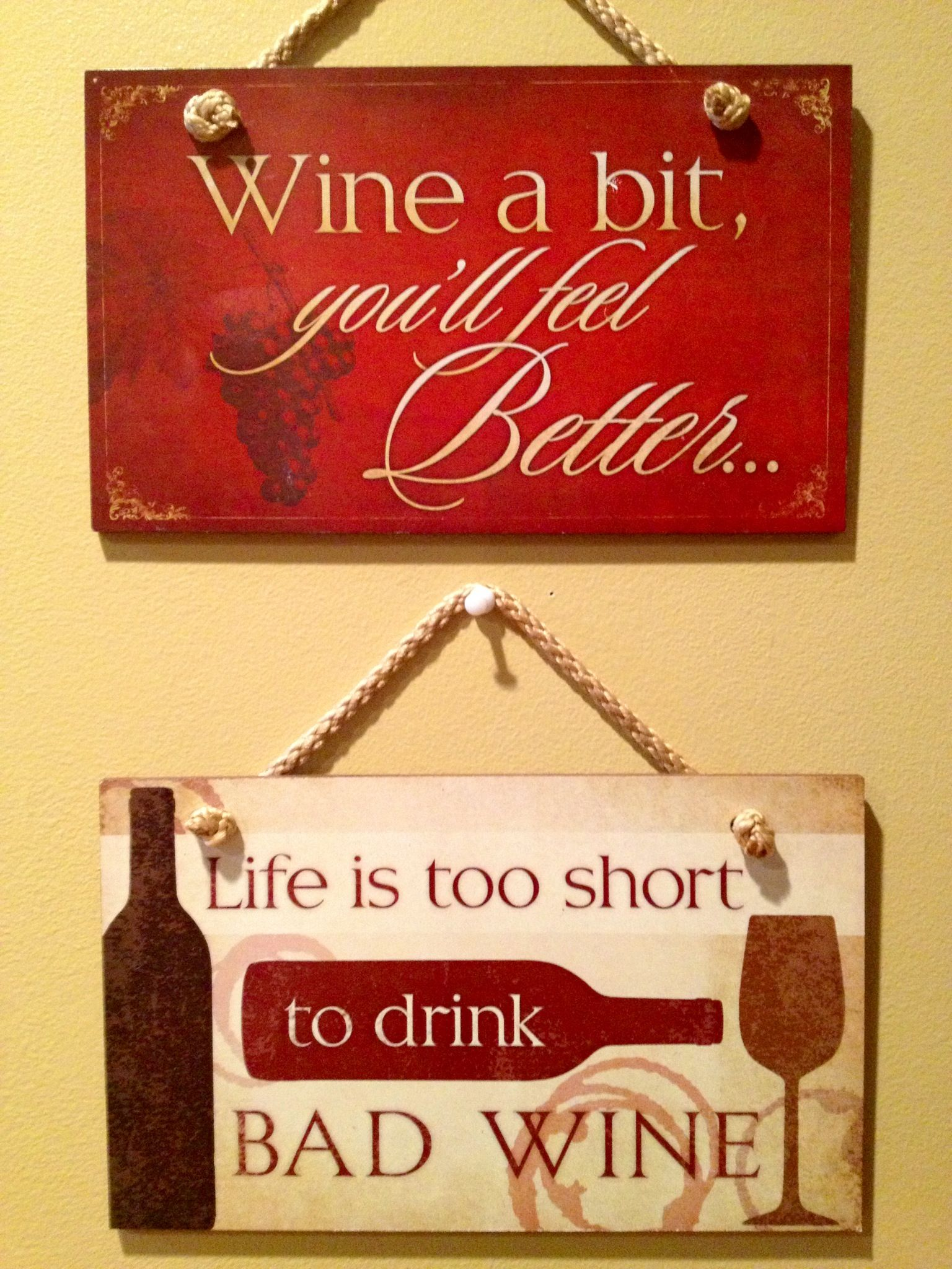 My New Wine Signs Wine Signs Wine Bottle Crafts Wine Decor
