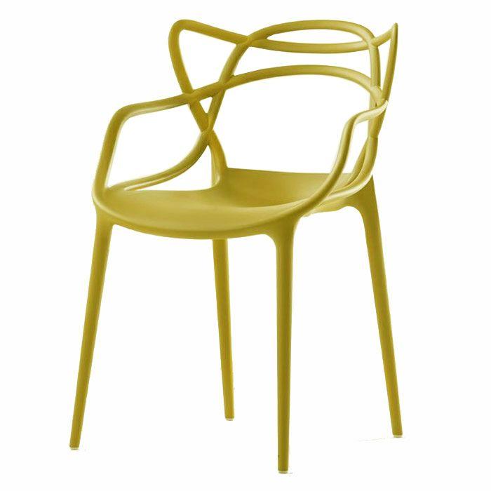 KARTELL Masters Chair, mustard / yellow master chair ...