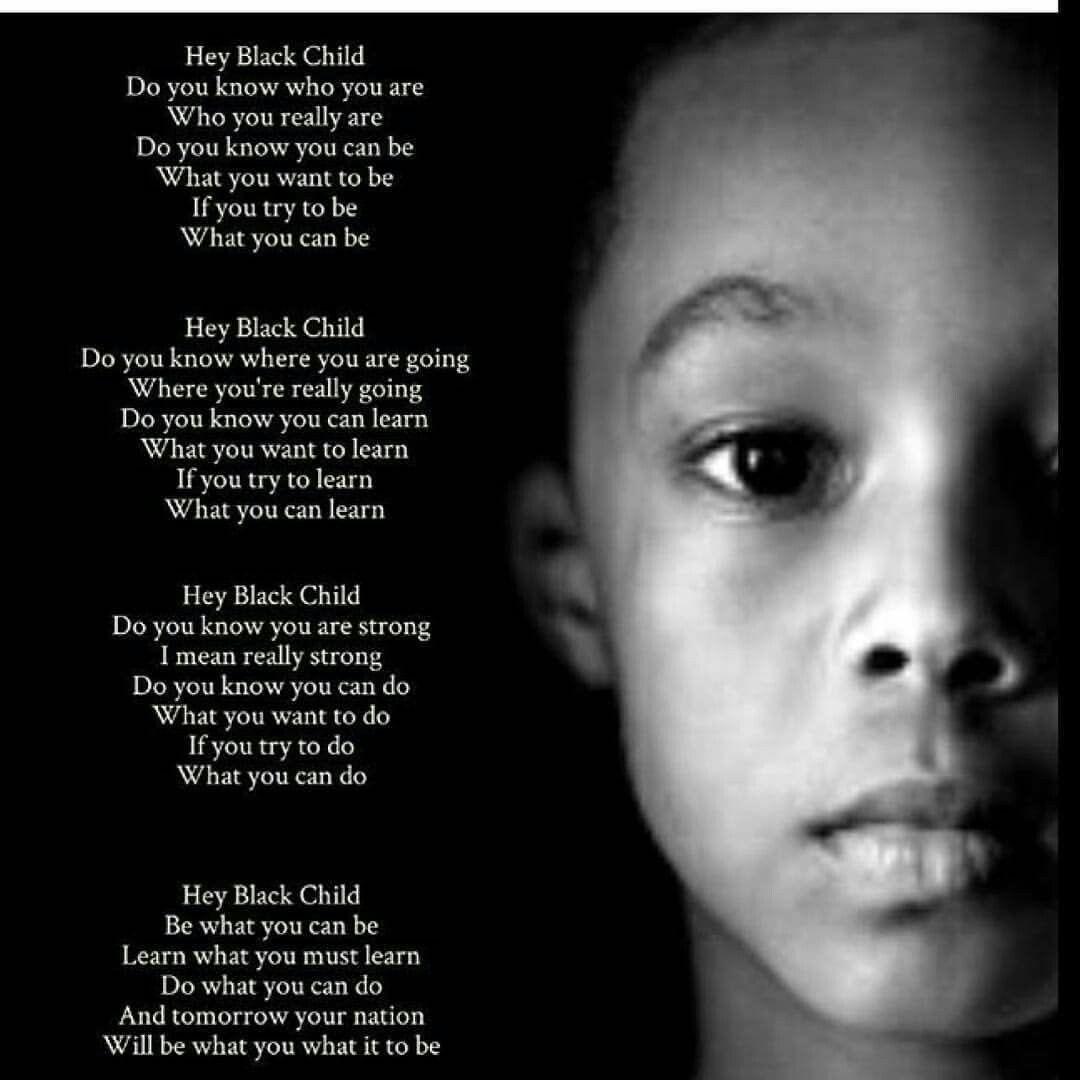 Hey black child poem Quotes Pinterest Children poems