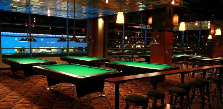 Parlor Billards & Spirits Billiards, Pool bar design