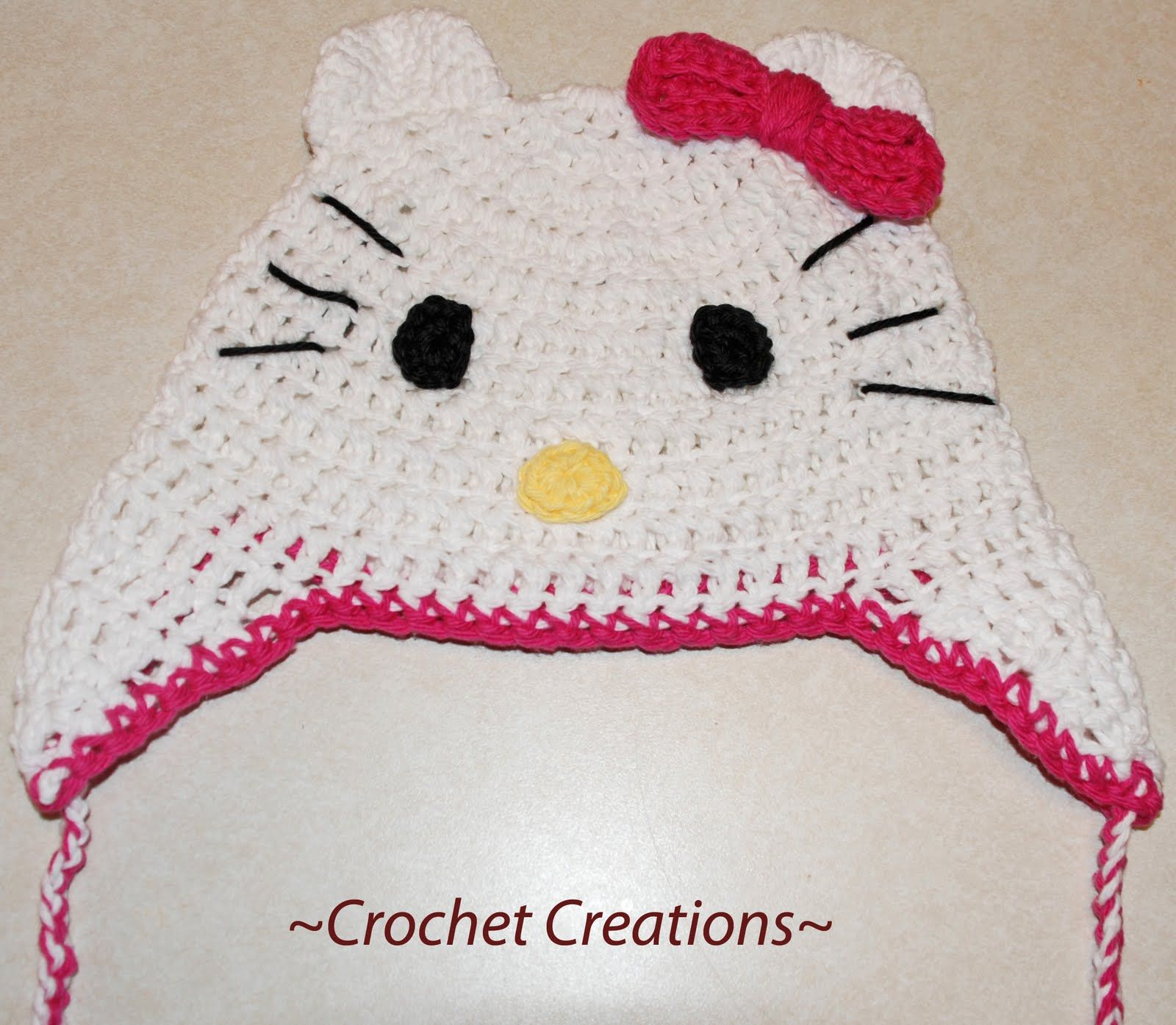 Amys crochet creative creations hello kitty ear flap hat hats amys crochet creative creations free crochet hello kitty ear flap child hat sizes baby to teen bankloansurffo Image collections