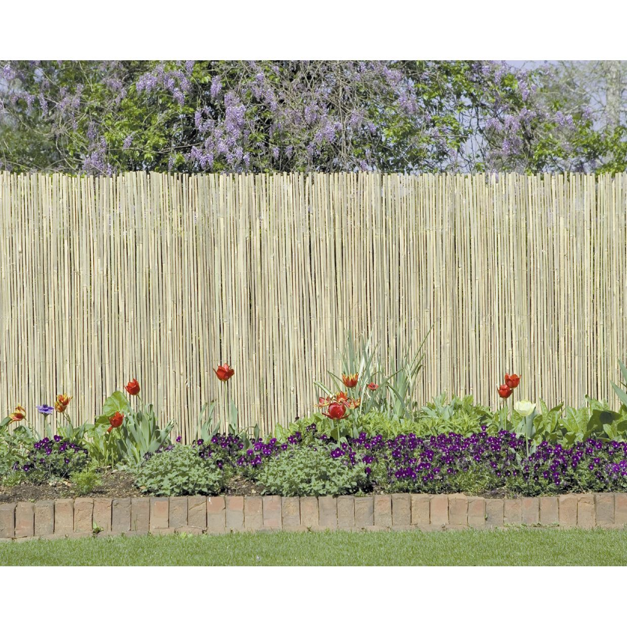Split Bamboo Fencing High Bamboo Fence Reed Fencing