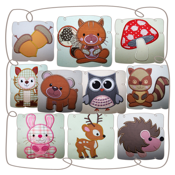 Woodlands Critter Set: Embroidershoppe