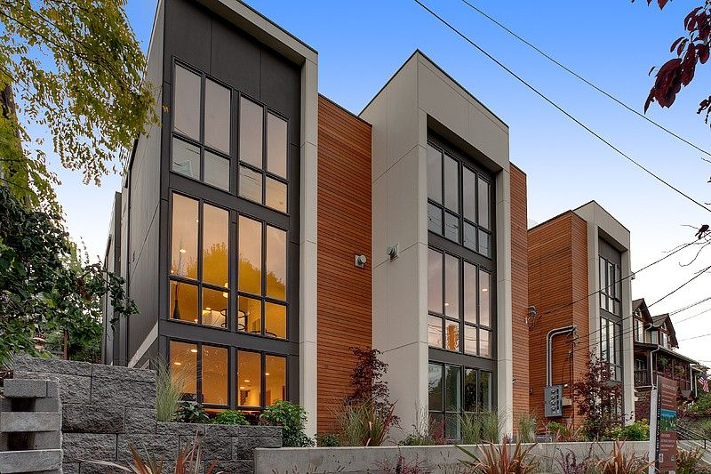 Image gallery urban townhomes for Modern townhouse plans