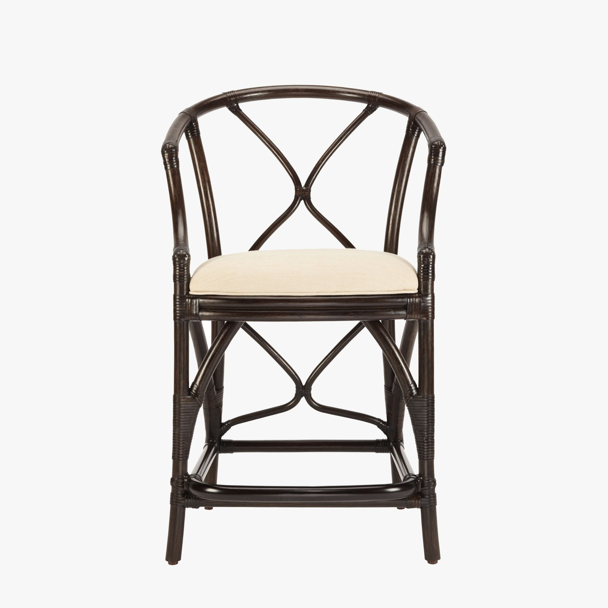 Rattanmöbel 24 Our Midi Dark Rattan Counter Stool Is Pitched For Comfort And
