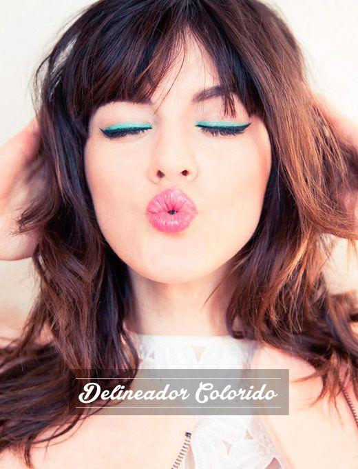 os Achados  Beleza   Delineador Colorido: idéias de como usar