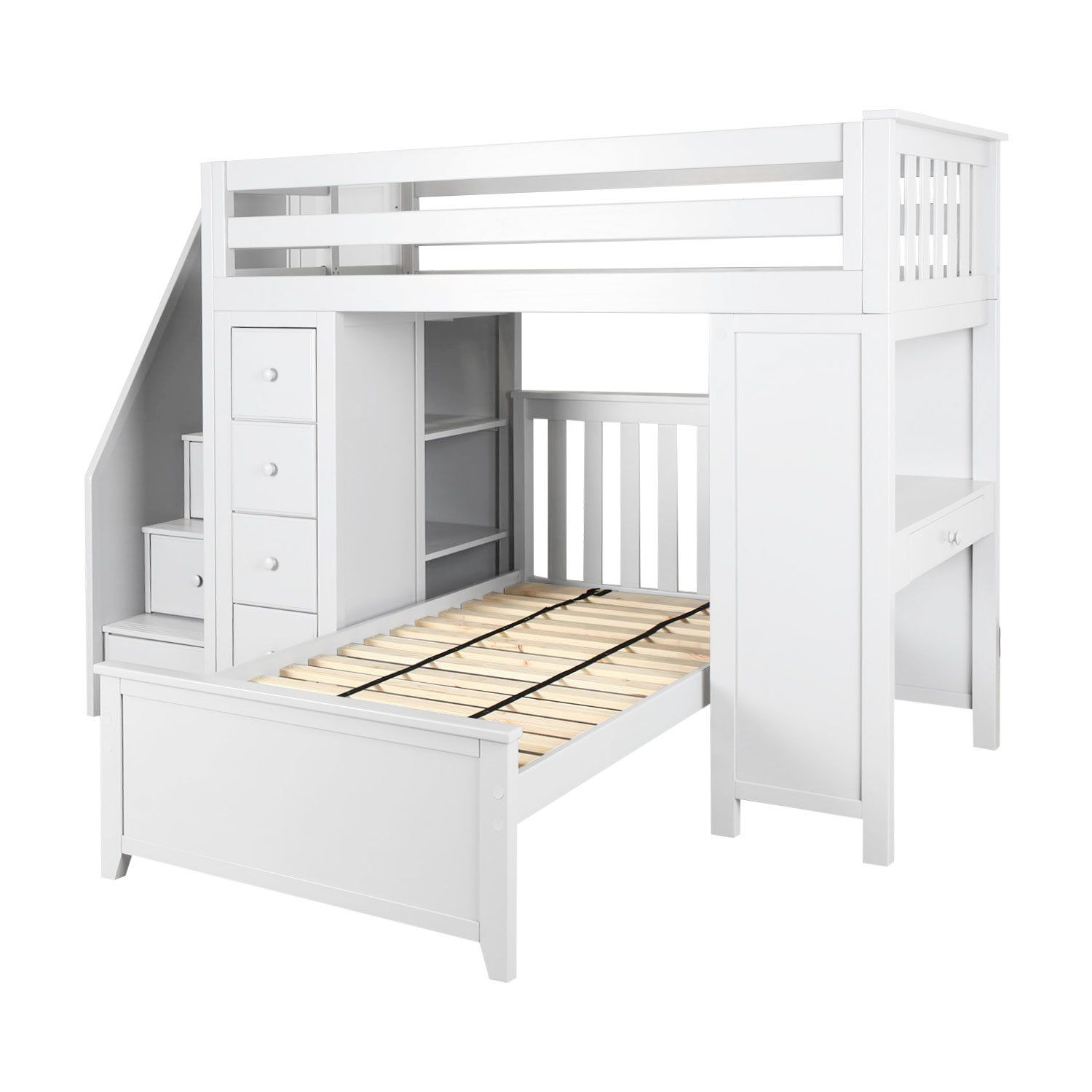 21 Top Wooden L Shaped Bunk Beds With Space Saving Features L Shaped Bunk Beds Bunk Beds With Stairs Bunk Bed Designs
