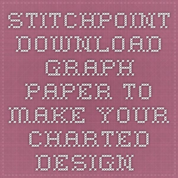 StitchPoint - Download graph paper to make your charted design - graph sheet download