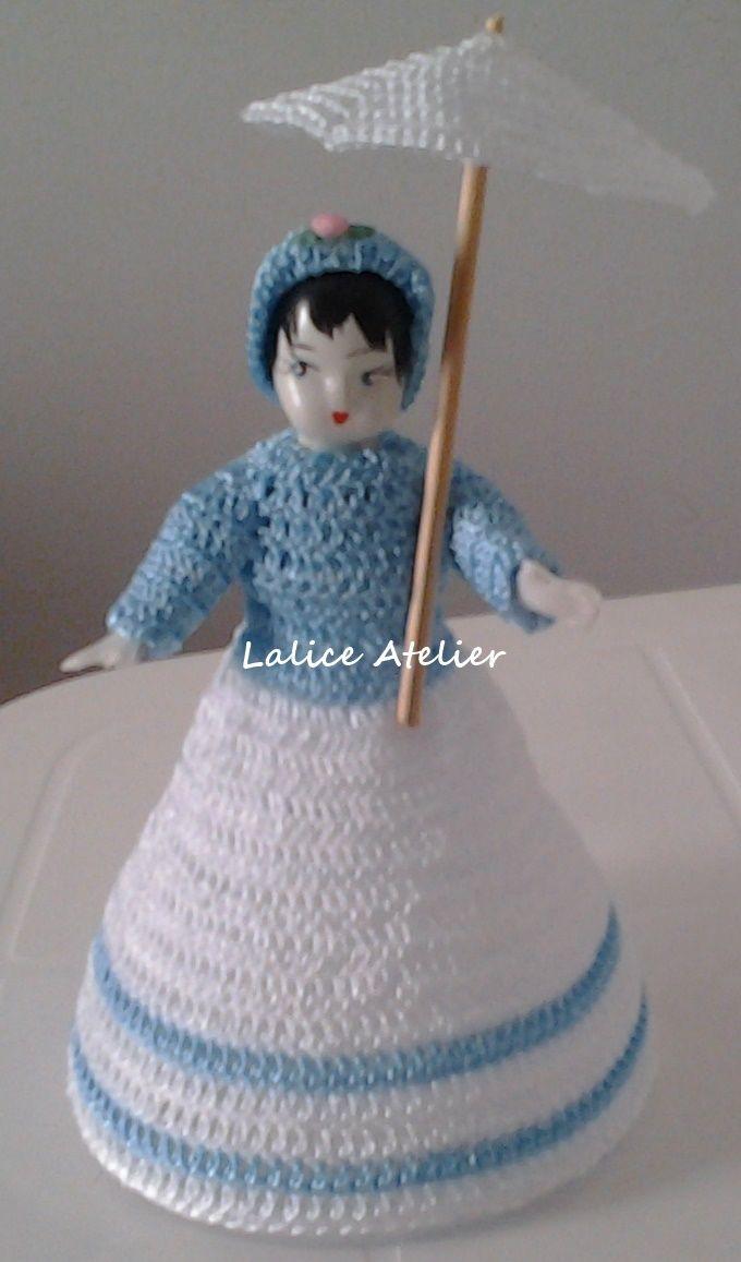 PRESENTE PARA MADRINHAS - Boneca Cecília em crochê e garrafa pet #presentemadrinha #lembrançamadrinha #bonecacrochê #casamento #boneca #crochê