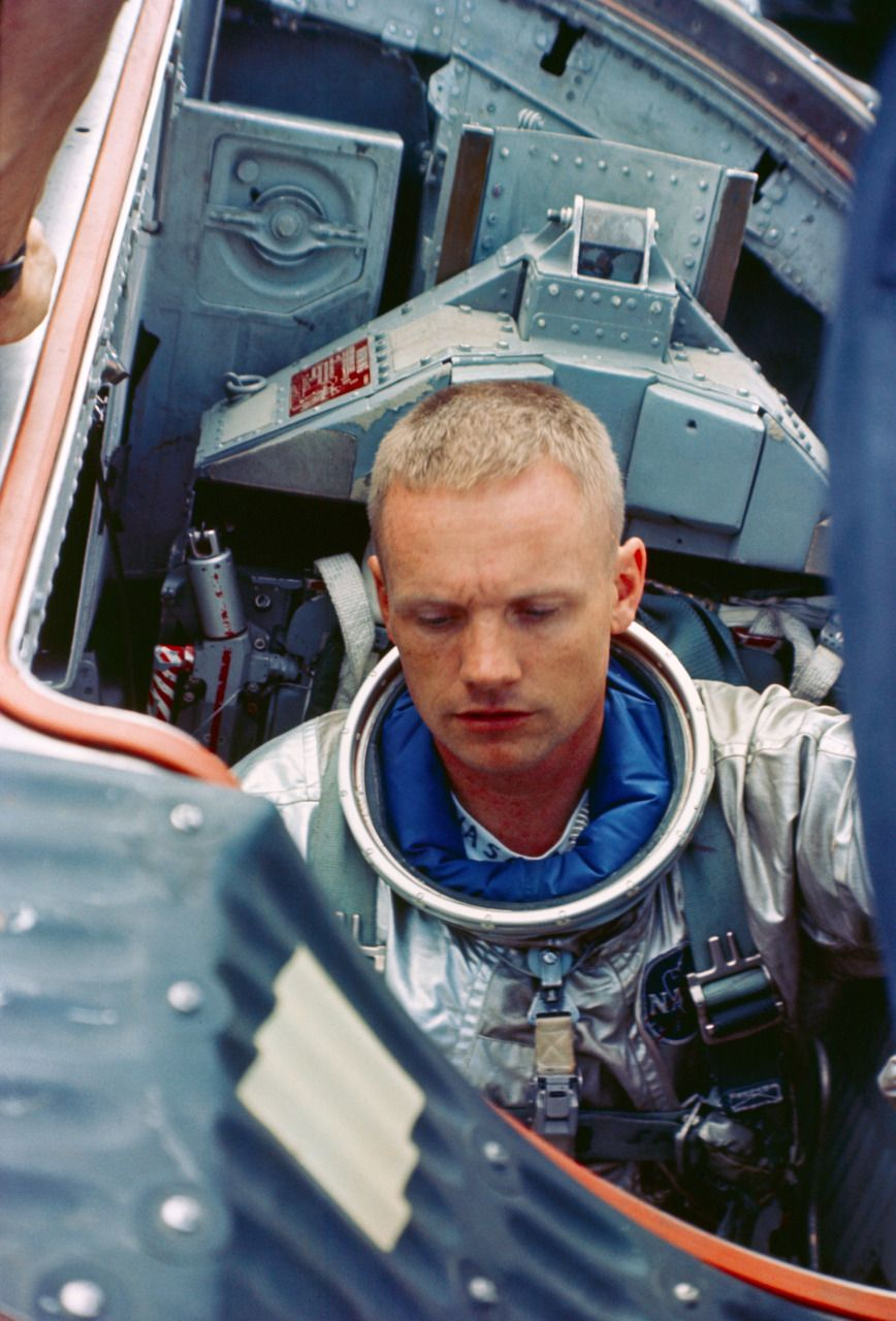 Astronaut Neil Armstrong the first man on the Moon in his