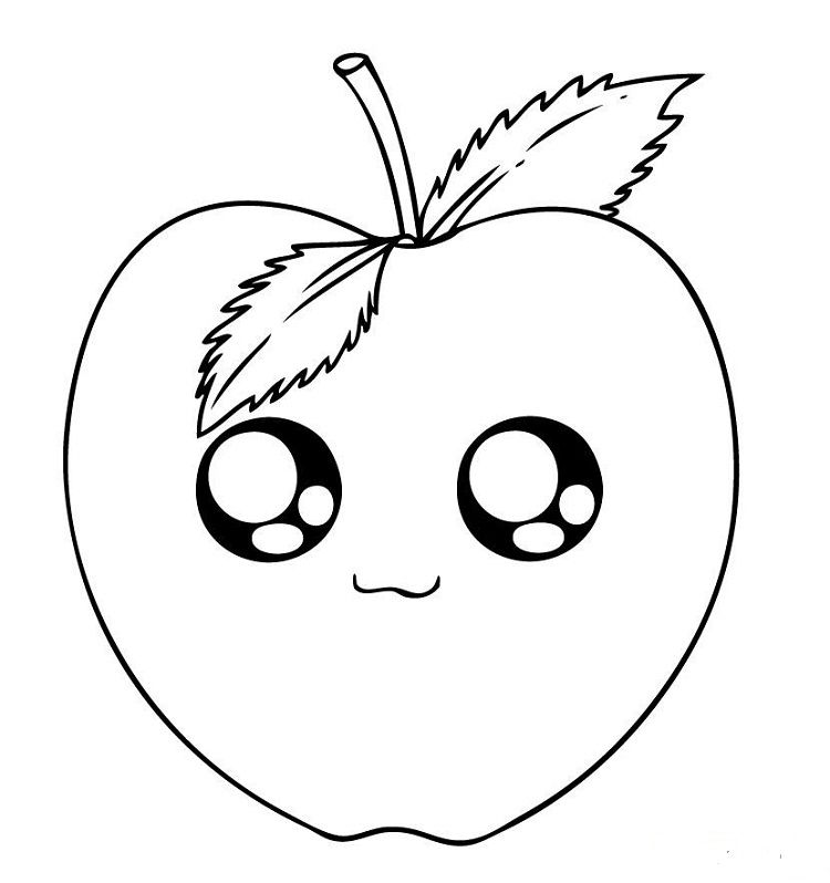 Cute Apple Coloring Pages Cute Coloring Pages Apple Coloring