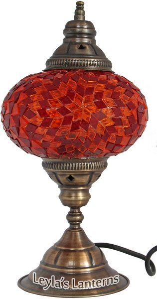 17 Cm Red Star Mosaic Turkish Table Lamp Light Lantern Leyla S Lanterns 45 00 Shipping Lamp Lantern Table Lamp Turkish Lamps