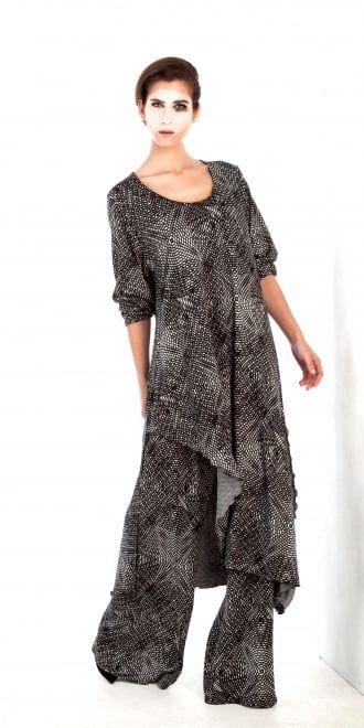 Yiannis Karitsiotis Circle Print Long Dress | idaretobe UK stockist ...