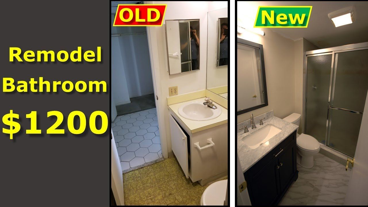 How To Remodel Your Bathroom Diy 1200 Budget Watch This Bathroom Renovation Diy Bathroom Remodel Pictures Bathrooms Remodel