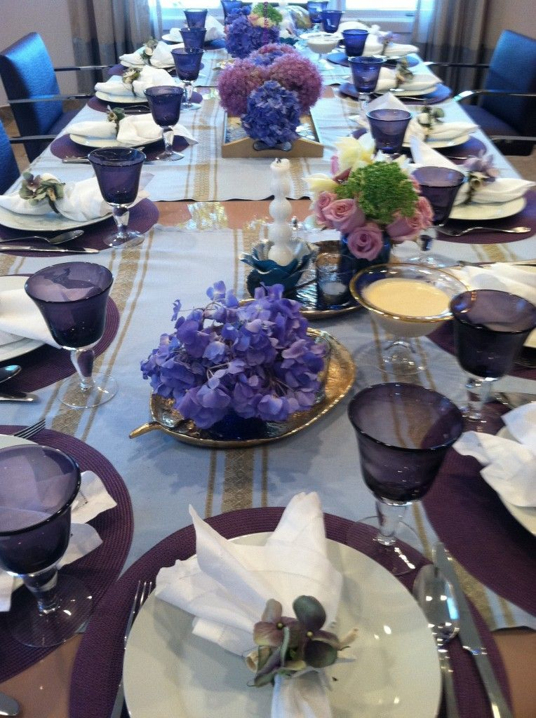 My Summery Lavender and Blues Shabbat Table & My Summery Lavender and Blues Shabbat Table   Pinterest   Lavender ...
