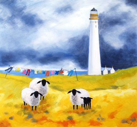 ROWENA LAING - Scottish lighthouse, Ferryden