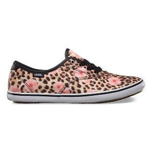 573de18a99 Trendy Women s Sneakers   Vans Huntley – Cheetah Floral Natural Black -