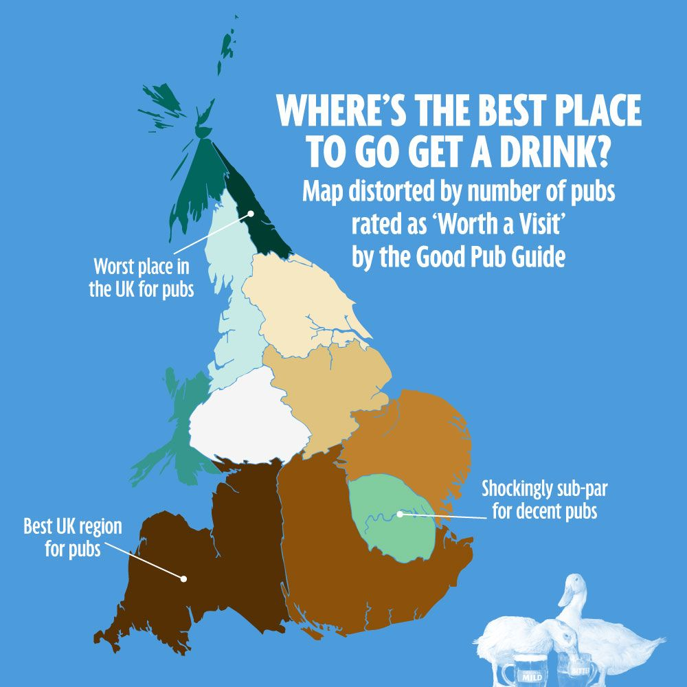 Map Of Uk Pubs.What S The Skinniest Part Of Britain The Uk In Five Weird Maps