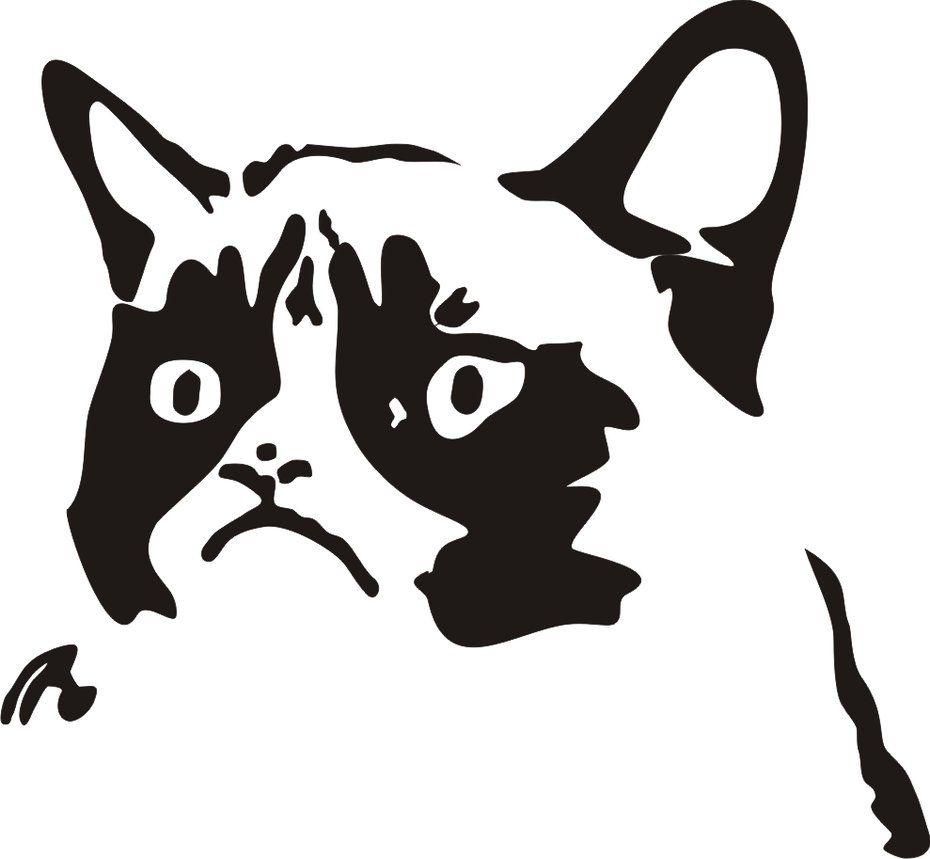 Tard the Grumpy Cat Vectorized by DrLeprechaun | Craft Ideas | Pinterest